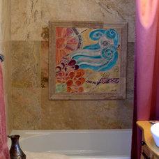 Traditional Bathroom by Vickie Morrow