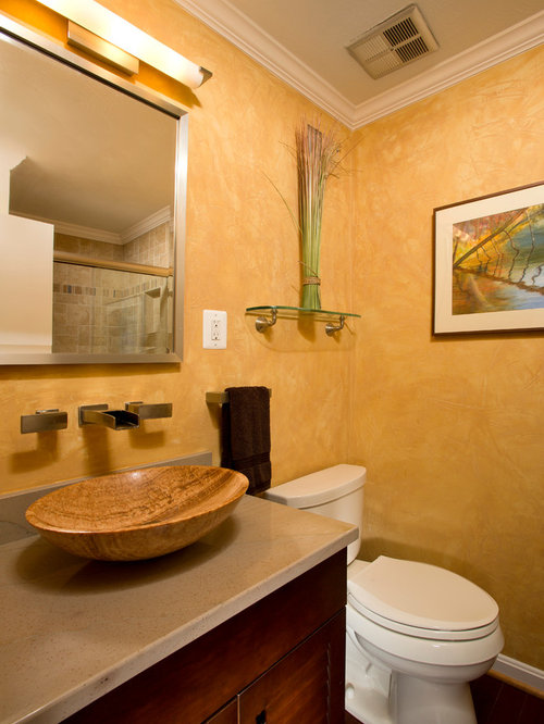 Bathroom Design Ideas Renovations Photos With Louvered Cabinets And Yellow Walls