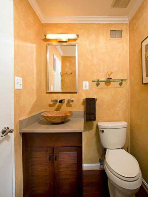 Sink vessel bathroom design ideas renovations photos - Bathrooms with yellow walls ...