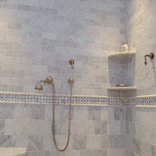 Traditional Bathroom by United Marble Fabricators