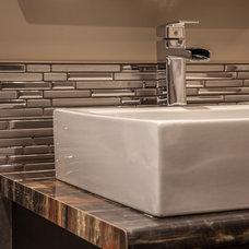 Eclectic Bathroom by Allen Interiors & Design Center Inc