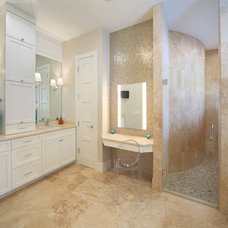 Transitional Bathroom by Phil Kean Design Group
