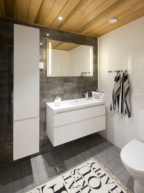 Gray Bathroom Tiles | Houzz