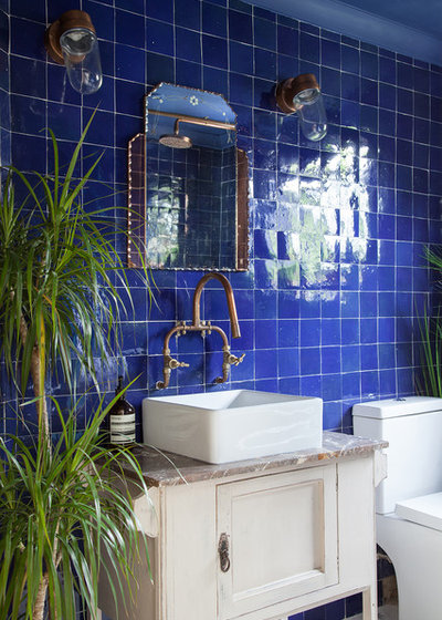 Eclectic Bathroom by Emilie Fournet Interiors