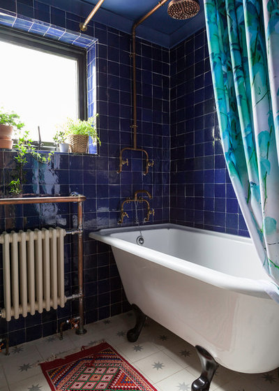 Eclectic Bathroom by Kasia Fiszer Photography