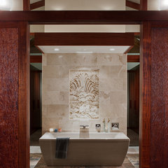 asian bathroom by Roberts Wygal