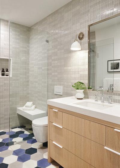 Transitional Bathroom by Holly A. Kopman Interior Design