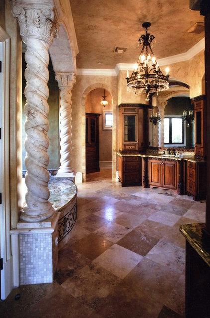 Mediterranean Bathroom by Renderings and Interiors
