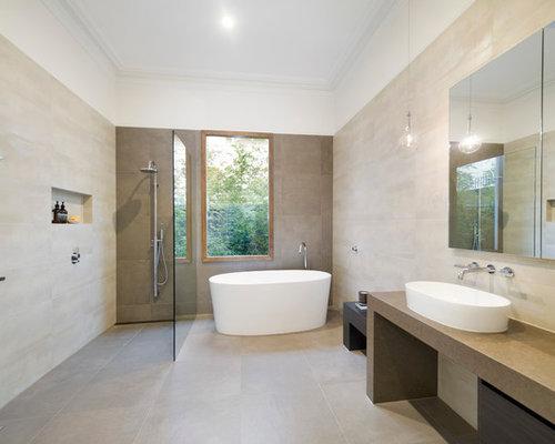 Badezimmer Naturfarben