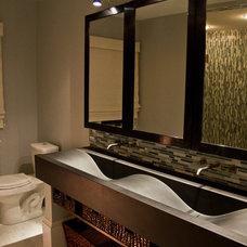 Traditional Bathroom by Erin Marshall Interior Design