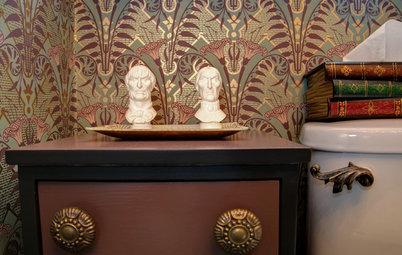 An Ornate Bathroom Raises the Specter of Disney's Haunted Mansion