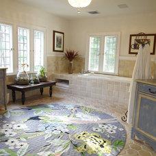 Traditional Bathroom by Mel McDaniel Design