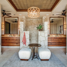 Tropical Bathroom by Norelco Cabinets Ltd