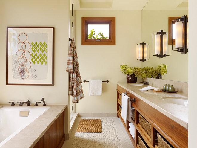 Tropical Bathroom by Christine Markatos Design