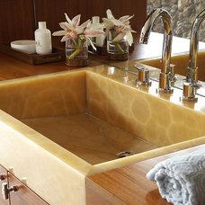 Tropical Bathroom by Slifer Designs