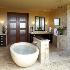 Tropical Bathroom by Knudson Interiors