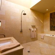 Tropical Bathroom by Sanborn Design Associates, Inc.