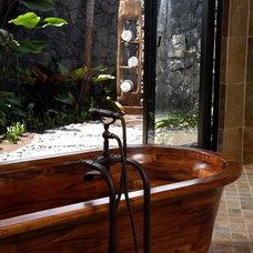 Tropical Bathroom by GT Design, Inc.