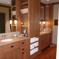 Craftsman Bathroom by Possession Point Woodworking