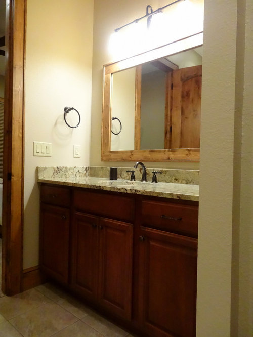 Cherry bathroom cabinets ideas pictures remodel and decor for Bathroom decorating ideas cherry cabinets