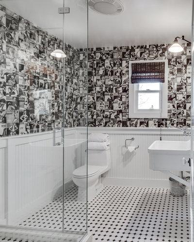 Transitional Bathroom by Bevan Associates