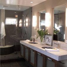 Contemporary Bathroom by Design Moe Kitchen & Bath / Heather Moe designer