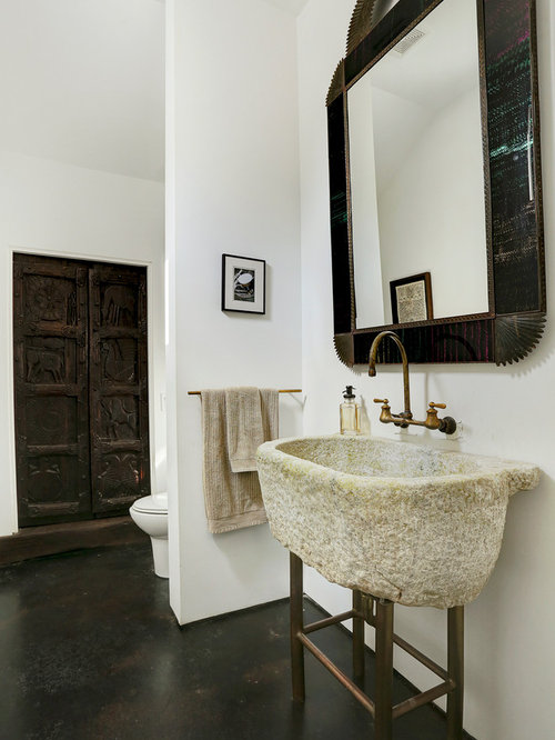 Southwestern Bath Design Ideas, Pictures, Remodel & Decor with Concrete Floors