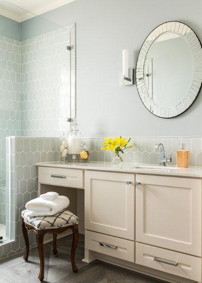 Transitional Bathroom by Kathryn J. LeMaster Art & Design