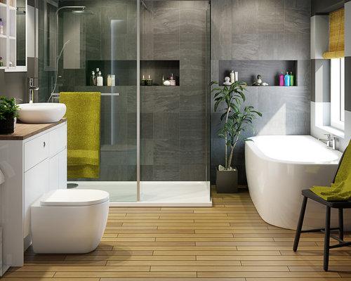 badezimmer mit laminat-waschtisch: design-ideen & beispiele für