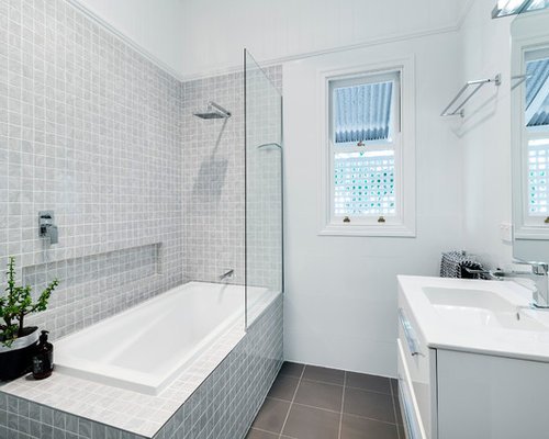 Modern Tub Shower Combo Design Ideas Remodels Photos