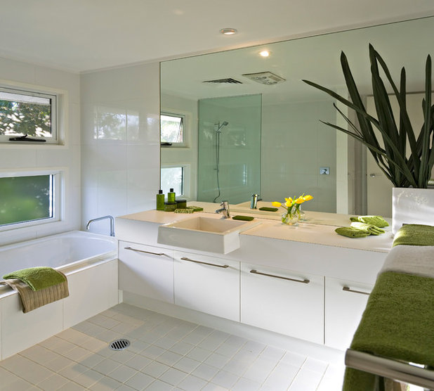 Nice Contemporary Bathroom by Civic Steel Homes