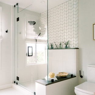 Mid-sized scandinavian bathroom in San Diego.
