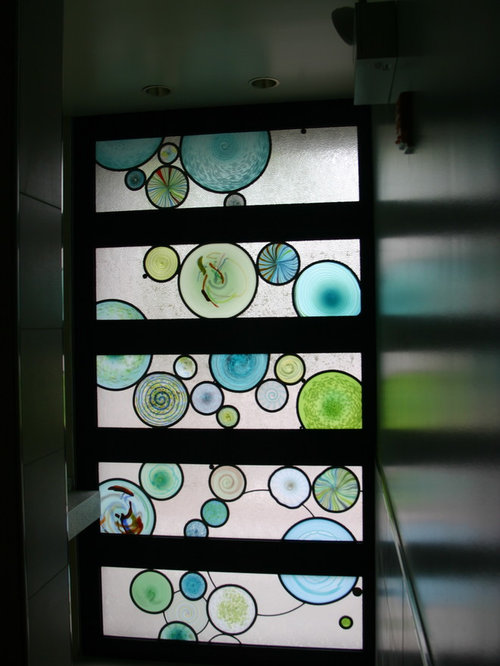 Hanging stained glass panels home design ideas for Stained glass bathroom window designs