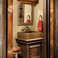 Rustic Bathroom by RMT Architects