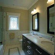 Craftsman Bathroom by Kenorah Design + Build Ltd.