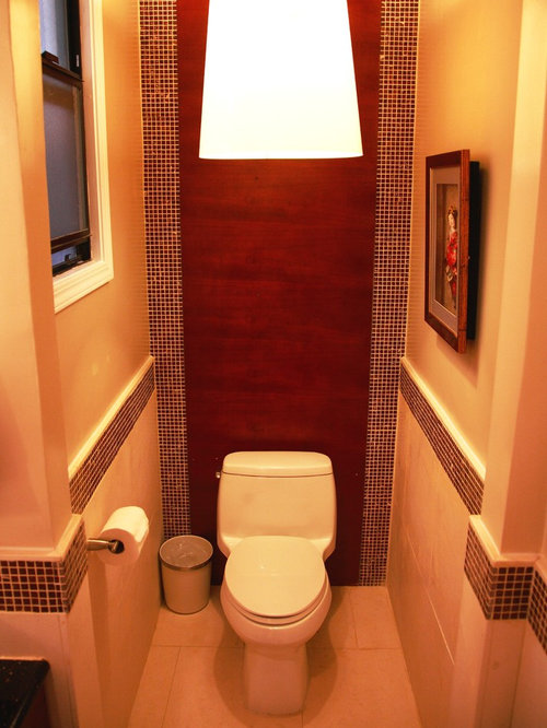 Small toilet space design ideas remodel pictures houzz for Small toilet room design