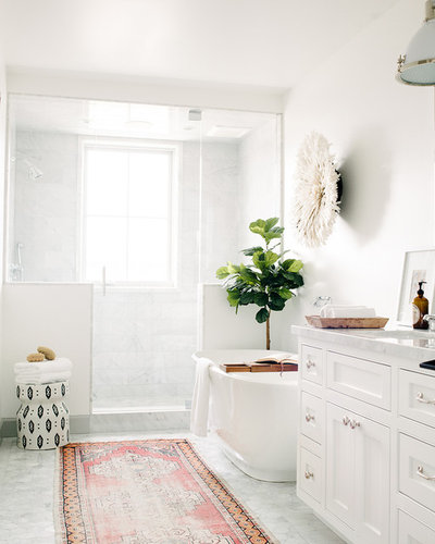 Bloombety Houzz Bathrooms With Floor Mat Houzz Bathrooms: 7 Ways To Dress Up Your Bathroom Floor With A Mat Or Rug