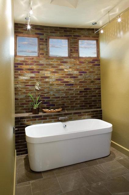 Traditional Bathroom by Oceanside Glasstile