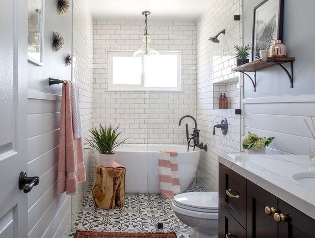 Farmhouse Bathroom by Soko Interior Design
