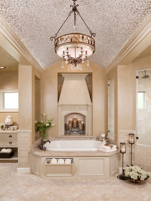 Tile ceiling home design ideas pictures remodel and decor for Bathroom decor houston
