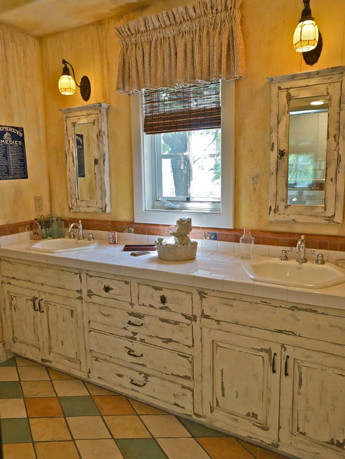 Distressed home design ideas renovations photos for Bathroom cabinets townsville