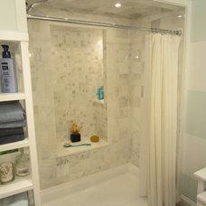 Transitional Bathroom by Interiorium, Inc