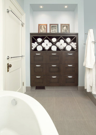 Transitional Bathroom by XTC Design Incorporated