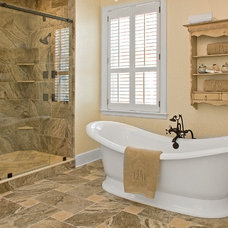 Traditional Bathroom by Laura Redd Interiors