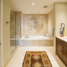 Transitional Bathroom by Alexis Solomon Design Studio