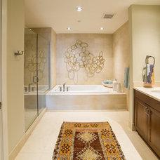 Transitional Bathroom by Alexis Solomon Design Studio