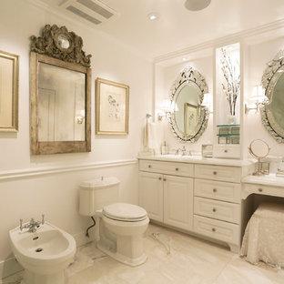 Elegant bathroom photo in Houston with a bidet