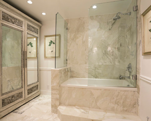 enclosed tub and shower combo. Traditional tub shower combo idea in Houston Glass Enclosed Tub  Houzz