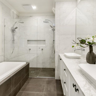 This is an example of a transitional bathroom in Other.