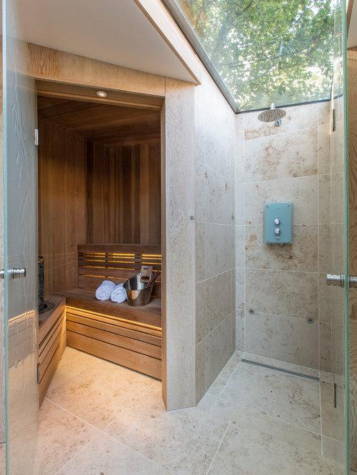 Sauna Design Ideas modern villa interior sauna 1 Inspiration For A Contemporary Sauna Remodel In London With Beige Tile